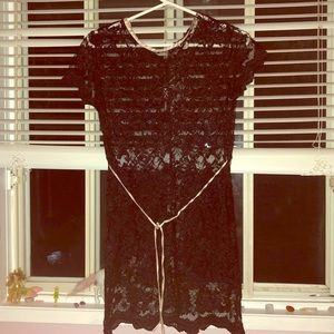 See through laced cover up